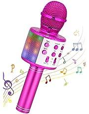 $29 » Karaoke Wireless Microphone, Ankuka 4 in 1 Handheld Bluetooth Karaoke Machine Speaker with LED Lights, Home KTV Player for Party/Kids Singing