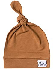 """Copper Pearl Baby Beanie Hat Top Knot Stretchy Soft for Boy or Girl""""Camel"""", 1.6 Ounces"""