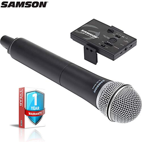 (Samson Go Mic Mobile Digital Wireless System with Q8 Dynamic Handheld Mic/Transmitter with Extended Warranty Bundle)