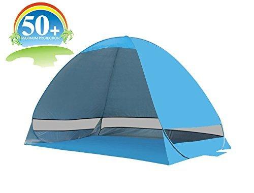Tall Pop Up Shelter : Pop up uv beach tent portablefun instant sun shelter