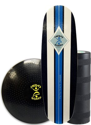 INDO BOARD Mini Pro Training Package, Includes 39 X 15 Deck, 8.5 Diameter Roller and 24 Diameter Cushion Comes in 4 Designs