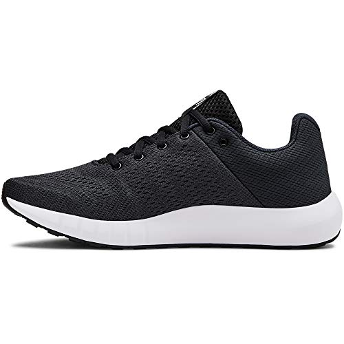 UNDER ARMOUR womens Micro G Pursuit Running Shoe, Anthracite (100)/Black, 7