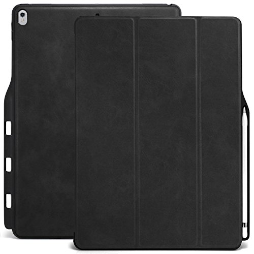 KHOMO iPad Pro 12.9 Inch Case with Pen Holder - DUAL Black P