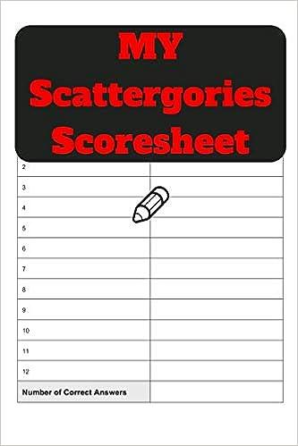 Buy My Scattergories Scoresheet My Scattergories Score Sheet Keeper My Scoring Pad For Scattergories Game My Scattergories Score Game Record Book My Score Card Book 6 X 9