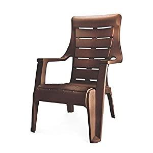 Nilkamal Sunday Plastic Chair (Weather Brown)