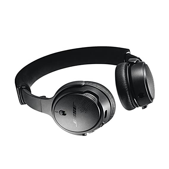 "Bose SoundLink On-Ear Bluetooth Headphones with Microphone, Triple Black 2 Bose SoundLink On-Ear Bluetooth Headphones with Microphone - 47.2"" Audio Cable - 1.3"" USB Cable - Carrying Case - Bose 1 Year Limited Warranty Wireless Range: 30' (9.1m) Battery life: Up to 15 hours"