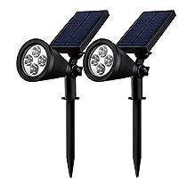 Foco Solar - Mpow MSL8D-V, 24 x 20 x 15 cm, color negro