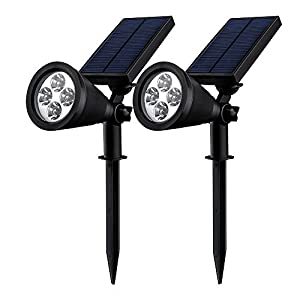double eclairage exterieur led mpow lampe solaire jardin ip65 certifi tanche 4 led soleil p2. Black Bedroom Furniture Sets. Home Design Ideas