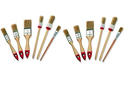 2/x bricolaje 6/unidades de anillo Pinceles Brocha plana emaile barniz de brocha para pintura y colores