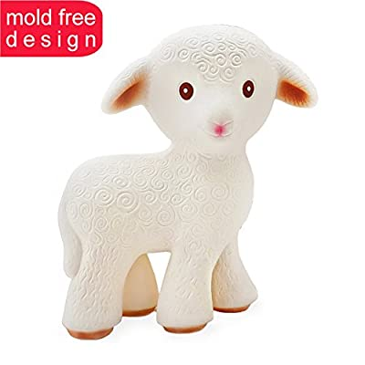 100% Pure Natural Rubber - Mia the Lamb Teething Toy - BPA, PVC, phthalates Free