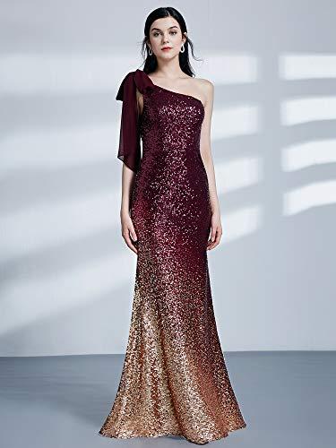 Vestidos Borgoña 8999 Vestido Elegantes De Para pretty V Sirena Mujer Ever Fiesta Noche Cuello fqxwTW5FO