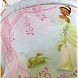 Disney- Full Princess And The Frog Comforter Bed Cover Girls Bedding Microfiber