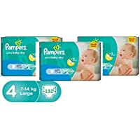 Pampers Active Baby-Dry, Size 4, Large, 7-14kg, Value Pack, 44 Count x 3pcs