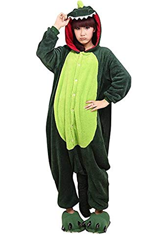 Women's Sleepwear Unisex Adult Kids Dinosaur Onesie Animal