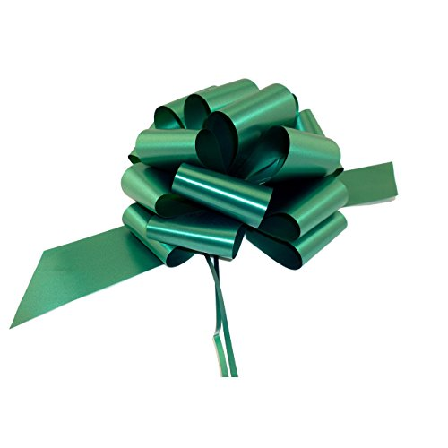 Large Hunter Green Pull Bows - 9