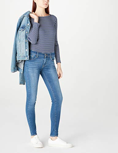 Woman Pants Skinny Blue Denim Vie Super 30 710 27 Levi's La Af04n