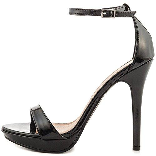 YDN Open Toe High Heel Sandals Stilettos for Women Ankle