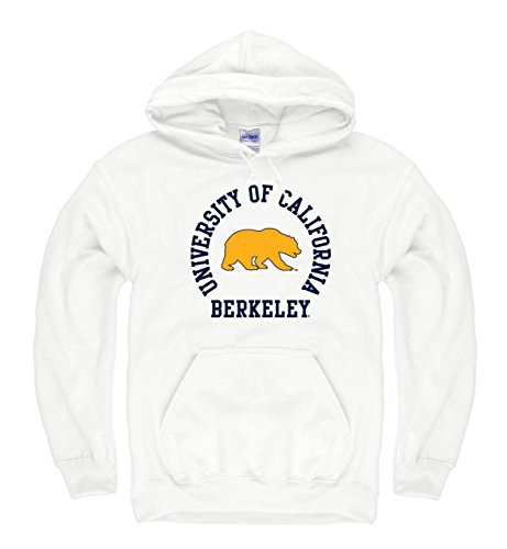 Campus Colors Cal Golden Bears Adult NCAA Team Spirit Hooded Sweatshirt - White, Small