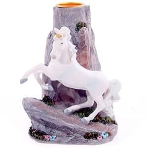 Unicornio mágico en Rock portavelas-