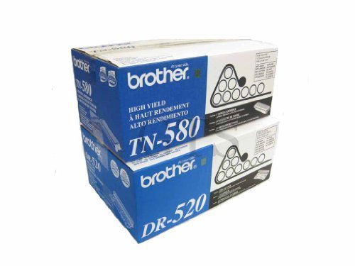 Gts Value Combo - GTS Value Combo: Brand New Genuine Original OEM Brother TN580 Toner Cartridge and DR520 Drum Unit