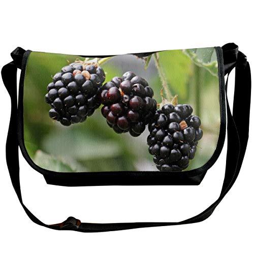 (Bafrsc Blackberries-bramble-Berries-Bush Printed Wide Cross Body Bag with Adjustable Shoulder Strap, Outdoor, Travel, School, 6.3