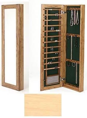 Mingo Custom Woods Wall Mounted Jewelry Case Without Lock Natural Maple ()