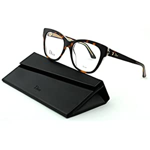 Dior Montaigne 6 Women Cateye Eyeglasses (Havana Crystal Havana Frame(0G7J), 52)