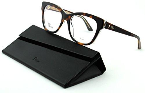 Dior Montaigne 6 Women Cateye Eyeglasses (Havana Crystal Havana Frame(0G7J), - Dior Glasses