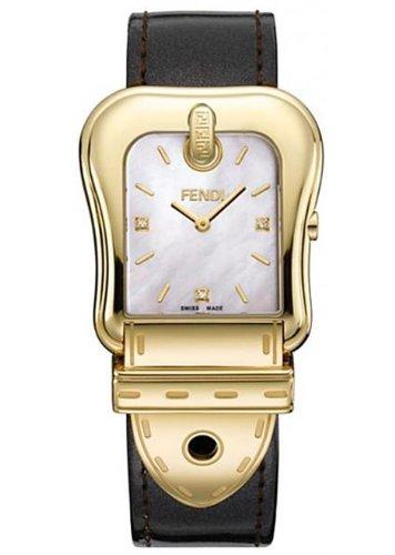 FENDI[フェンディ] F380414521D1 Fendi B Diamond ダイヤモンド メタリック ブラウン レザーバンド マザーオブパール レディース腕時計 [並行輸入品] B00KGVTNQA