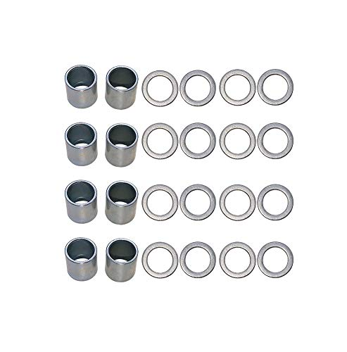 Nimbus Spacers and Washers for Skateboards and Longboards (8pcs Silver Spacers;16pcs Silver Washers)