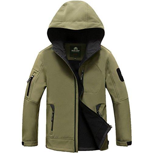 Wardrobe King Men's Casual Long Sleeve Green Jacket Dust Coat