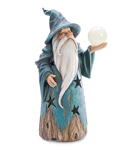 Wizard Statue with Solar Globe by Wind & Weather