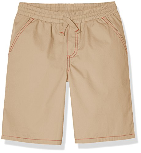 Tan Boys Shorts (A for Awesome Boys Basic Poplin Pull-On Shorts Medium Sandy Tan)