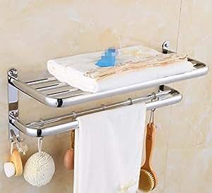 ... Doble Accesorios de baño Montaje en Pared Barras de Toallas Estante de Toalla Decoración hogareña Almacenamiento Toalleros,60cm: Amazon.es: Hogar