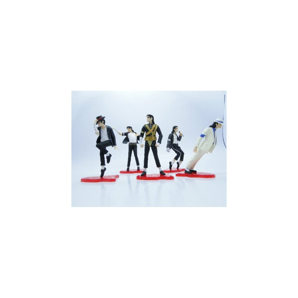 Lujex(TM) Best Moment of Michael Jackson 5 Pcs Figure Classic Dance Moves Box Set