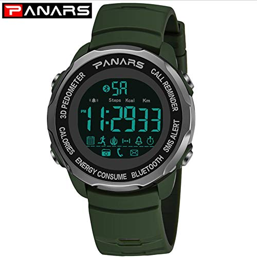 PANARS Men's Sports Smart Watch Waterproof Call Reminder Bluetooth Photo Step Counter Digital Watch,A3