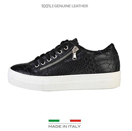 Versace V 1969 Mylene Echtleder Plateu Damen Sneaker Freizeitschuhe Schlangenoptik Gr. 38 (siehe Artikelbeschreibung)