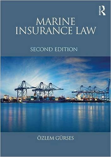 Book Marine Insurance Law