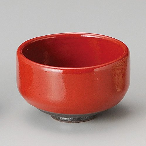 Yamakiikai Japanese Tea cup Matcha Bowl Red pattern M1743 made by 正陶 (Masasue) From Japan (Porcelain Plates Japan China)