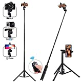 Apsung Selfie Stick Tripod, 54-inch Extendable Selfie Stick Wireless Remote,Portable Phone Tripod Compatible All Kinds Smartphones/Action Camera/Digital Camera