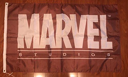 MARVEL RED FLAG BANNER LOGO 3X5FT COMIC BATMAN AVENGERS SUPERHERO WONDERWOMAN (5' Logo Flag)