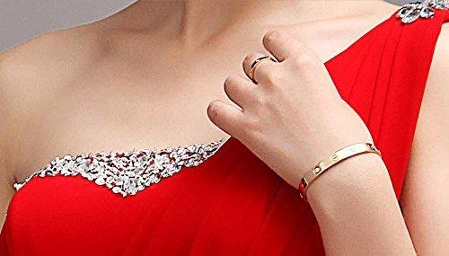 One LF4007 Rot Shoulder Träger Abiballkleid Pailletten Hochzeitskleider Ballkleid Brautjungfernkleid Maxi Abschlussball Lactraum Kleider Abendkleid vBqPvd