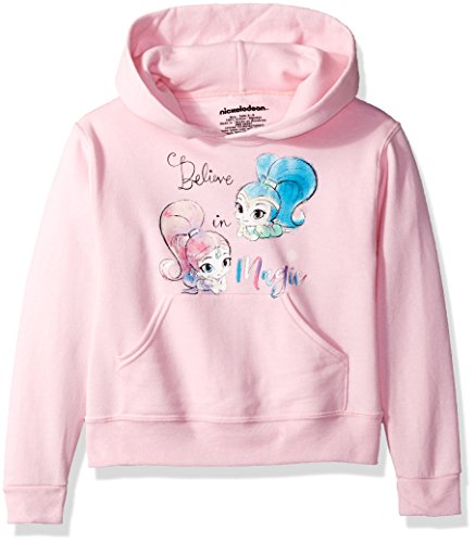 Nickelodeon Big Girls' Shimmer and Shine Believe in Magic Pullover Hoodie, Pink, XL ()