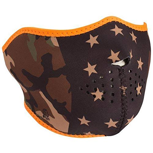 Zan Headgear Half Mask, Neoprene, Camo Stars - One Size
