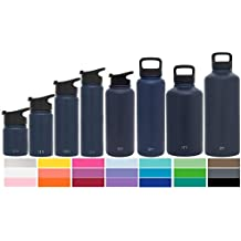 Simple Modern Summit Water Bottle + Extra Lid - Wide Mouth Vacuum Insulated 18/8 Stainless Steel Powder Coated - 84oz