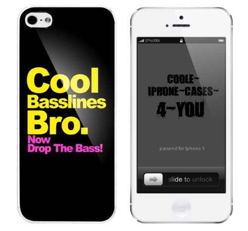 Iphone 5 Case Cool Basslines Bro. Now drop the Bass Rahmen weiss
