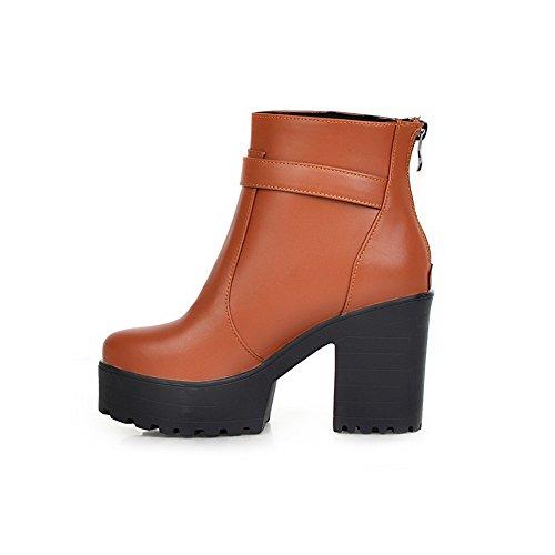 antideslizantes cuero Platform imitación amarillas Tacones de botas gruesos A N Girls O6WFqTfwa