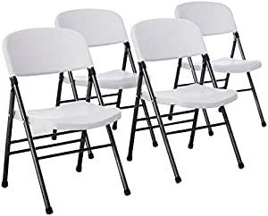 Amazon Com Cosco Resin 4 Pack Folding Chair With Molded