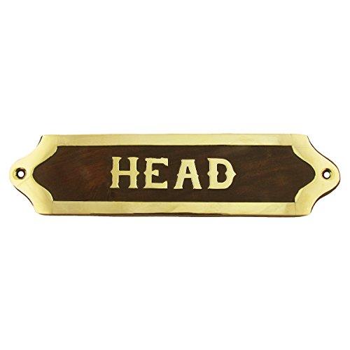 TreasureGurus, LLC Brass Ships Head Door Sign Maritime Ship's ()