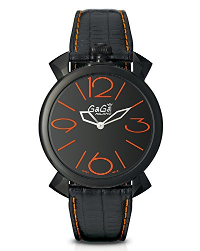 [ガガ ミラノ] GAGA MILANO 腕時計 MANUALE THIN 46MM ブラックPVD 時計 5092.01 [正規品] B00QPUR6SI